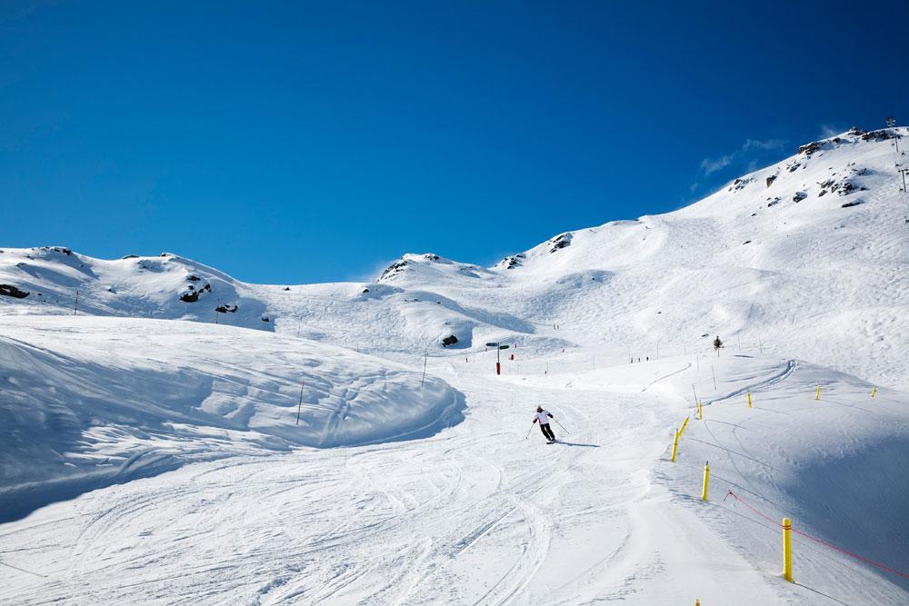 Het chique wintersportgebied Courchevel 1850, Les 3 Vallees, Frankrijk.