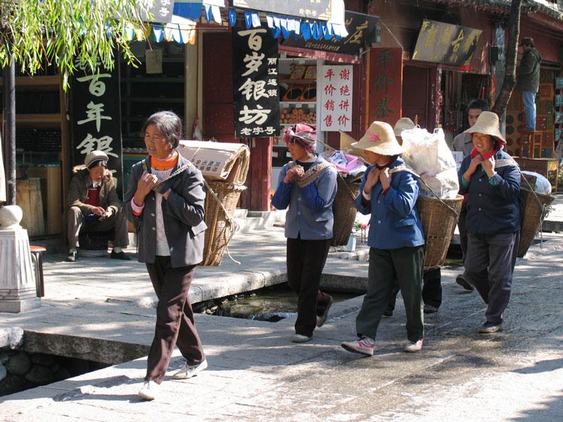 Het stadje Dali in de provincie Yunnan in het zuiden van China.