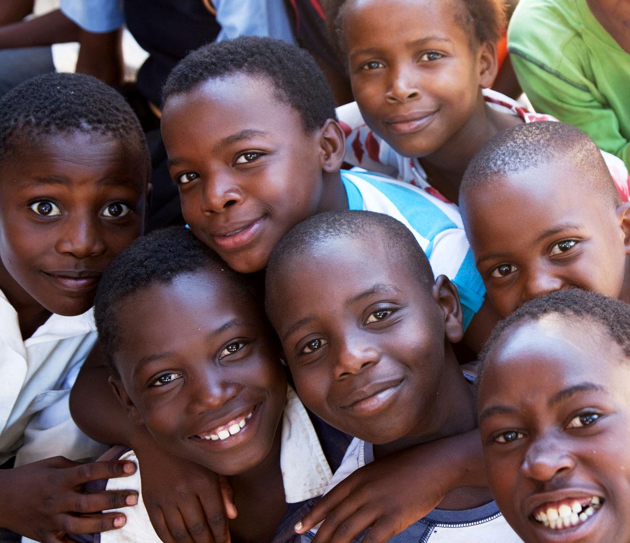 Kinderen van de Elim-Hlanganani-Society in Zuid-Afrika