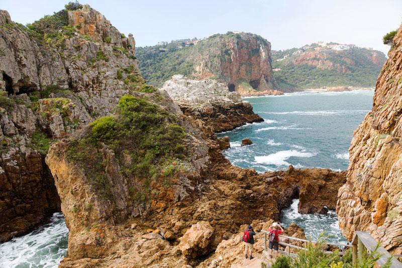 Knysna, Zuid-Afrika: wandelen in het natuurpark
