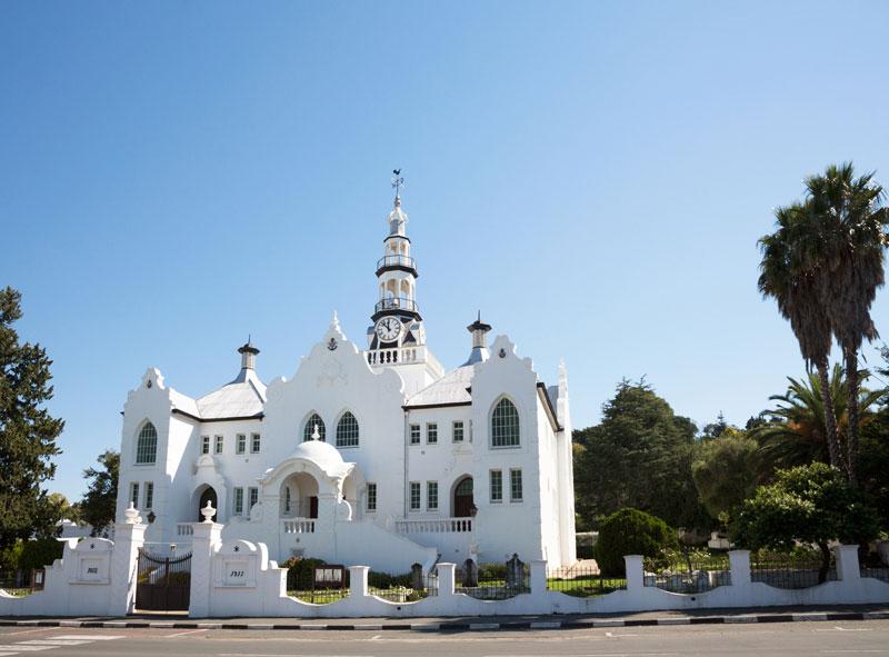 Mooie architectuur in Swellendam, Zuid-Afrika