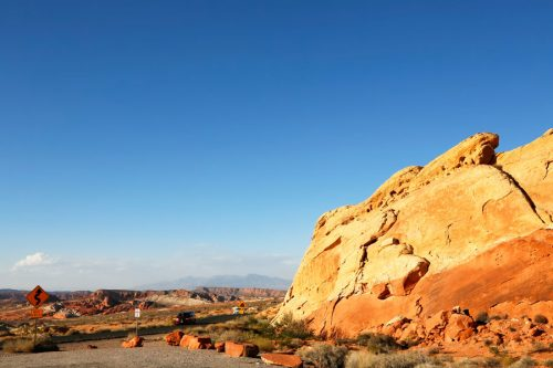 Rondreis Amerika. State Park Valley of Fire in Nevada: Rainbow Vista
