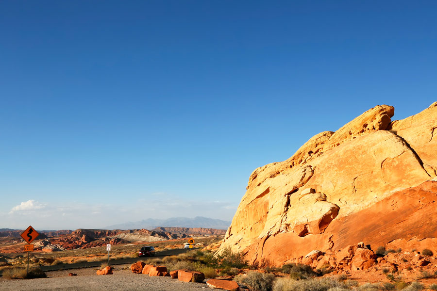 Rondreis Noord Amerika - Verenigde Staten. State Park Valley of Fire in Nevada: Rainbow Vista
