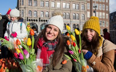 Nationale Tulpendag in Amsterdam