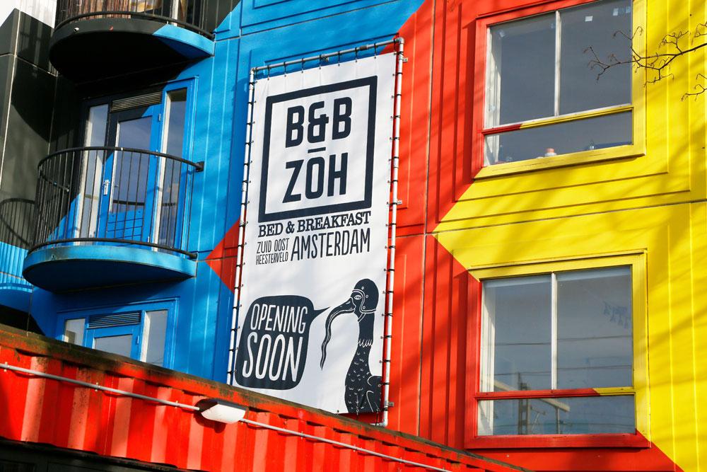 Hotspot in de Bijlmer, Amsterdam Zuidoost: B&B ZOH