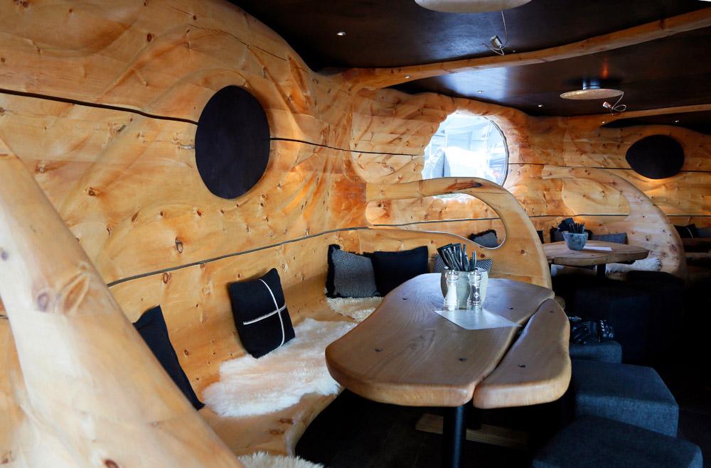 Hip restaurant op de piste: Hendl Fischerei in Leogang