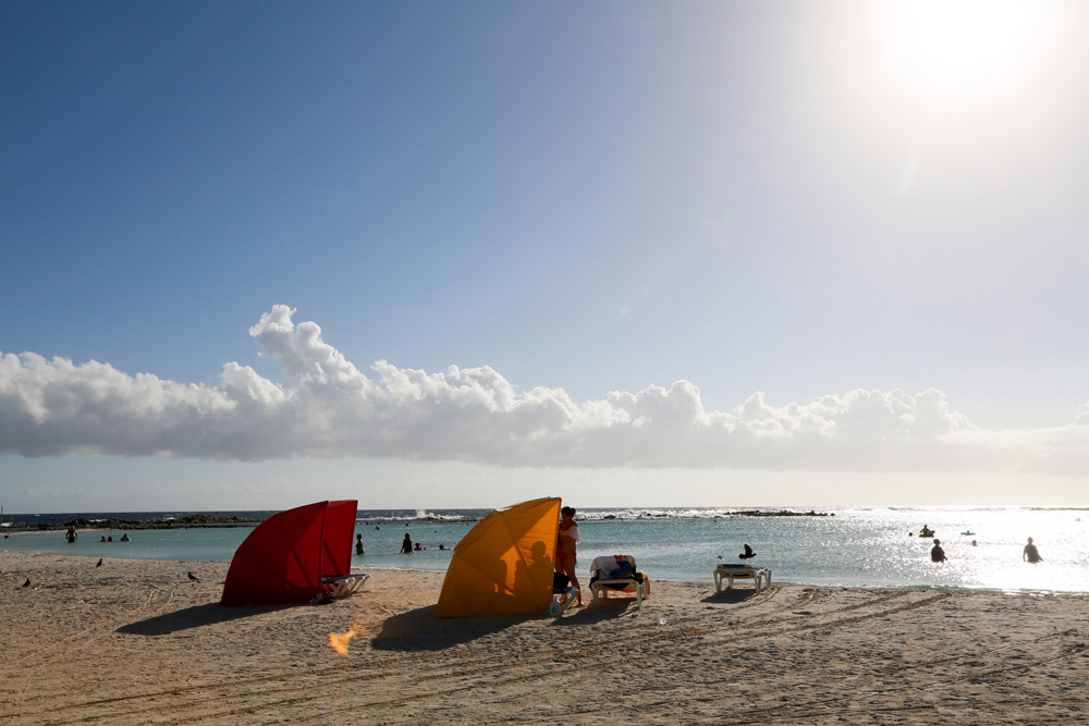 Strand top 5 Aruba: Baby Beach is ideaal voor gezinnen.