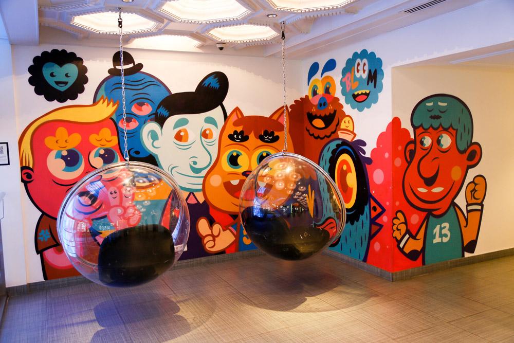 Designhotel Bloom in Brussel, Belgie. design, hotel, kunst