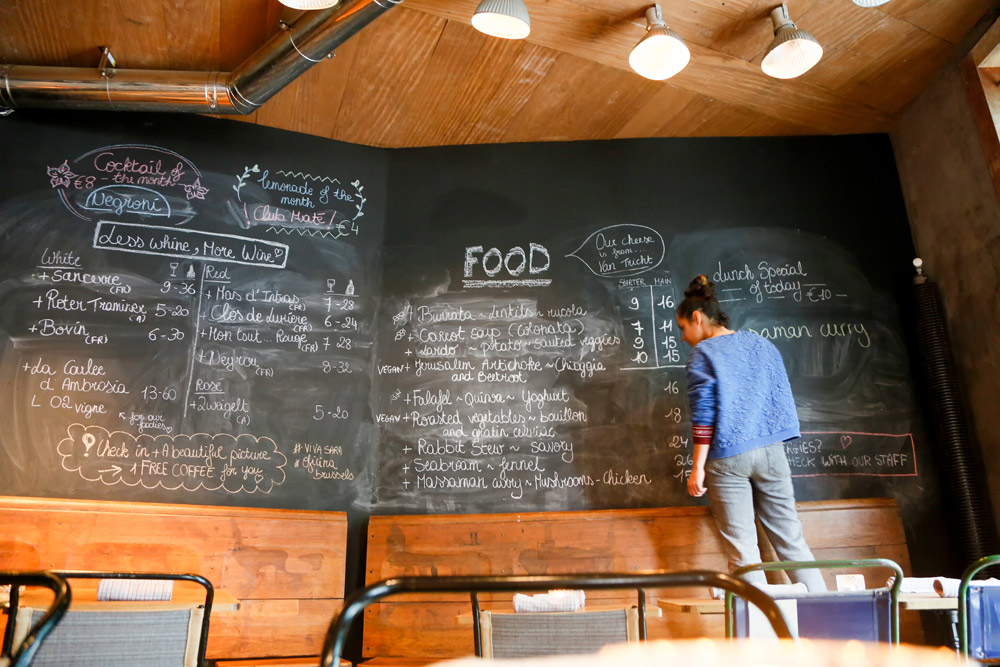 Stedentrip Brussel, Belgie: het menu van restaurant Oficina