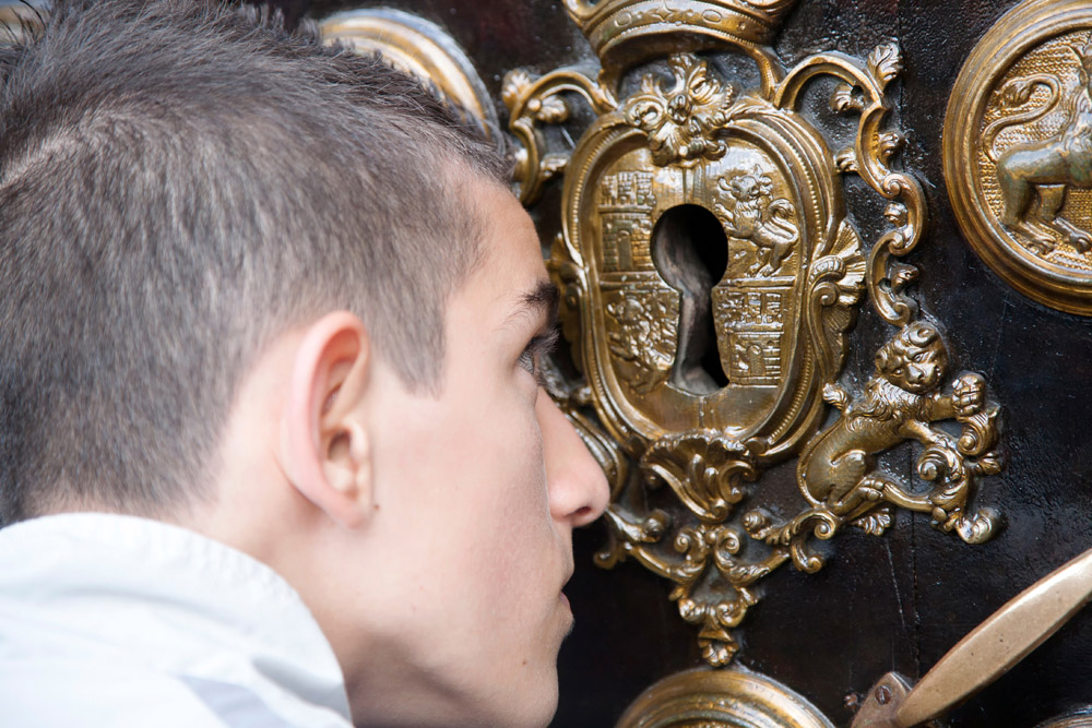Spanje, Sevilla, Semana Santa, boetedoening processie,
