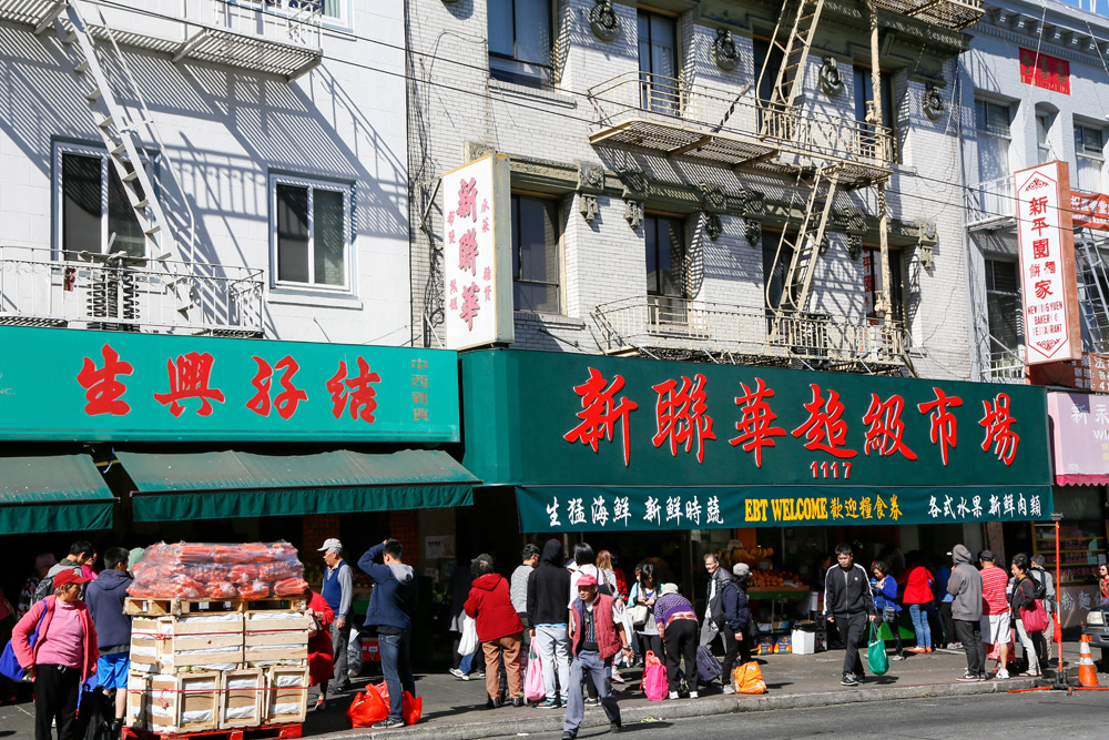 Altijd druk in Chinatown, stedentrip San Francisco