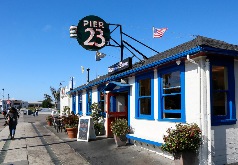 Tip: lunchen of borrelen bij Pier 23, San Francisco