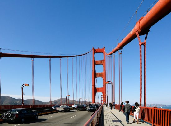 Een must do: wandelen over de Golden Gate Bridge, San Francisco