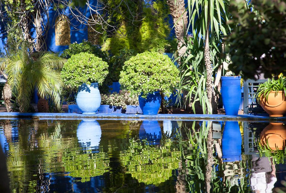 Majorelle: de couture-tuin van Yves Saint Laurent, Rondreis Marokko, koningssteden, camperrondreis,