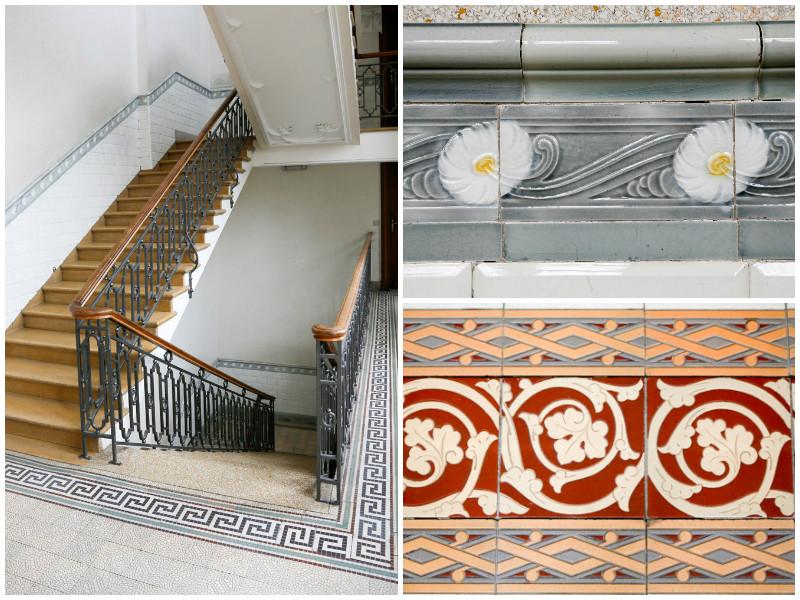 In het hele complex vind je prachtige versieringen, Stedentrip Mechelen, Belgie.