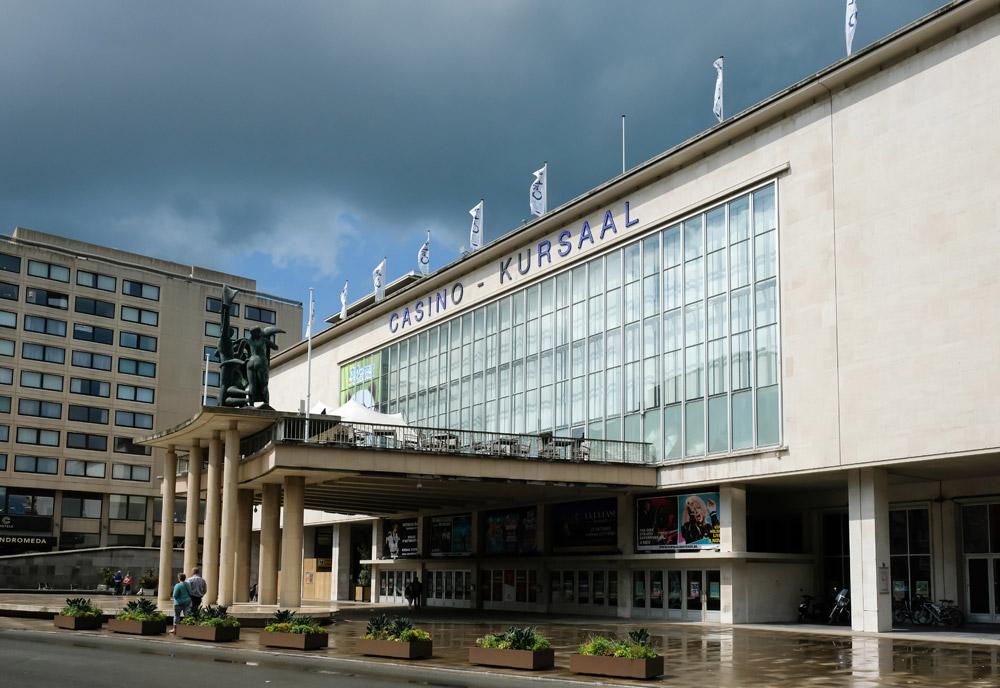 Het Casino Kursaal waar Marvin Gaye optrad tijdens zijn verblijf in Oostende