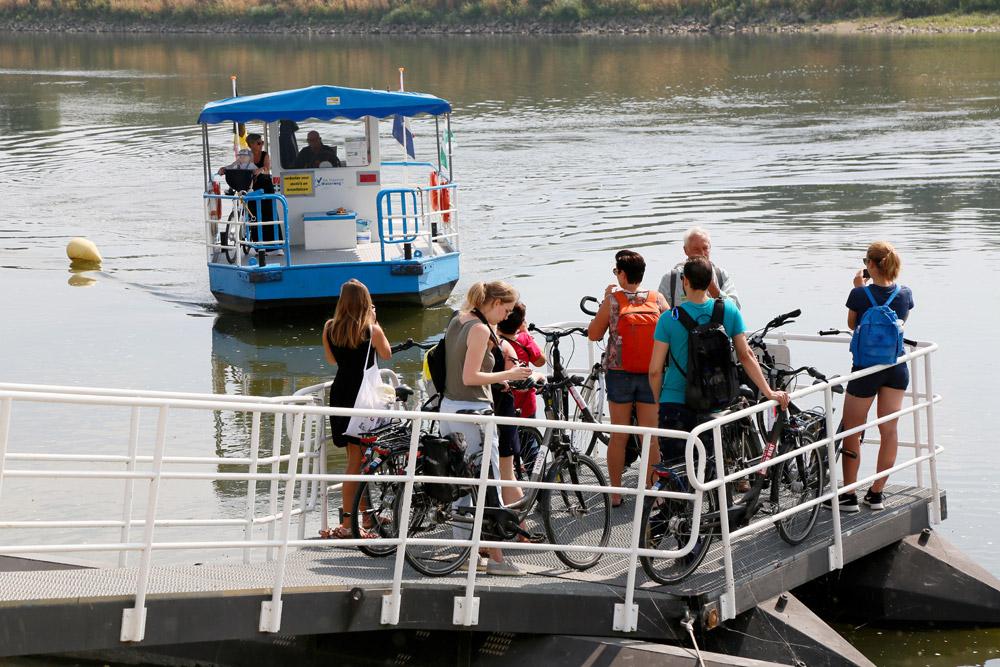 Met veerpontjes hop je van Belgie naar Nederland en terug, RivierPark Maasvallei, fietsroutes, fietsen,