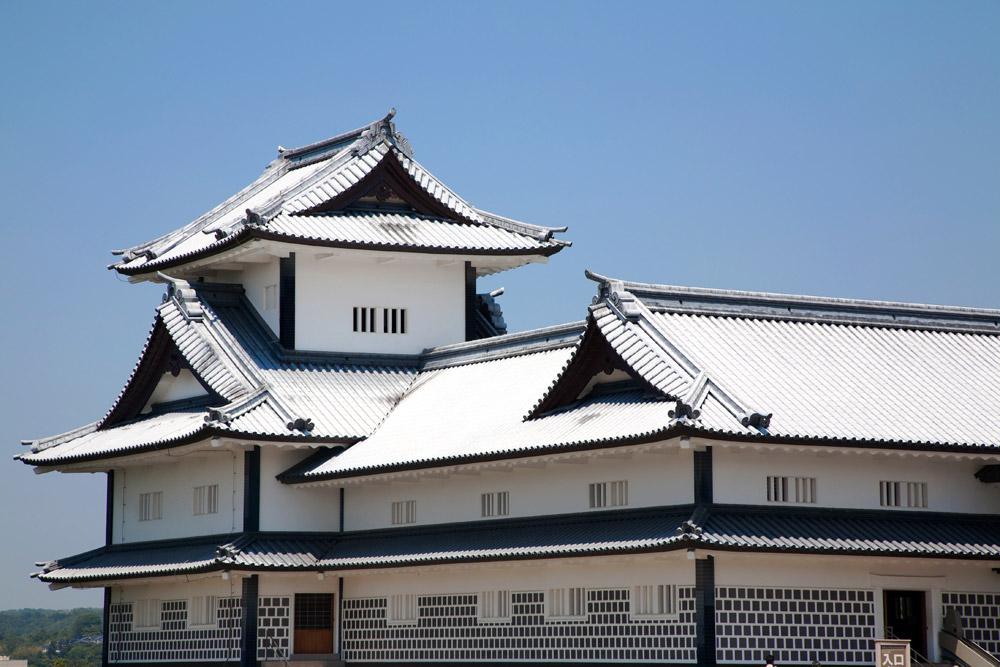 Een van de bezienswaardigheden, het kasteel van Kanazawa, Kanazawa, rondreis Japan