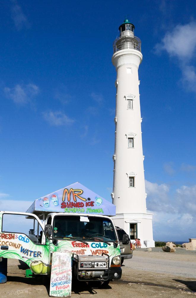 Vakantie Aruba: Een verfrissend drankje bij vuurtoren California