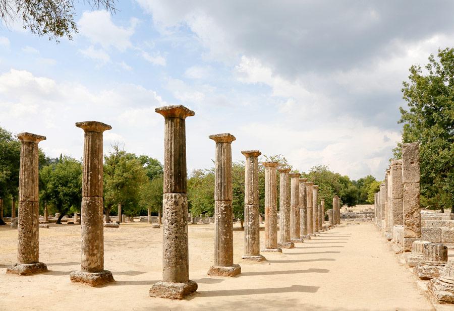 Olympia, de geboorteplaats van de olympische Spelen, Peloponnesos, , Griekenland
