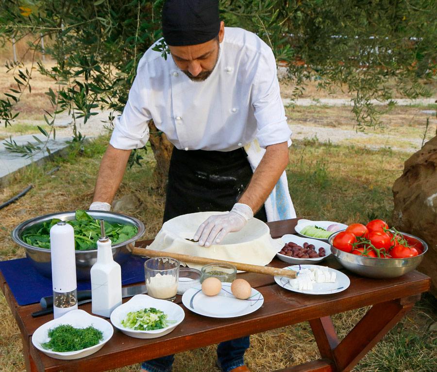 Kookles bij Socrates Organic Village, vakantie Griekenland