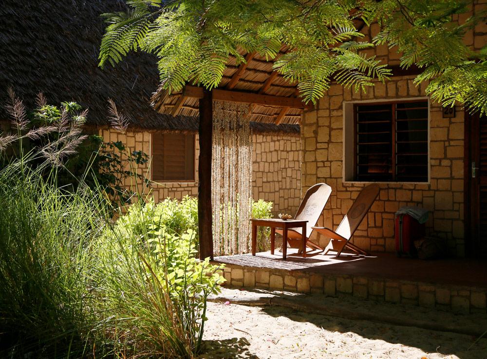Mijn hutje bij de hotel Bamboo Club in Ifaty Op vakantie naar Madagascar, Madagaskar, rondreis