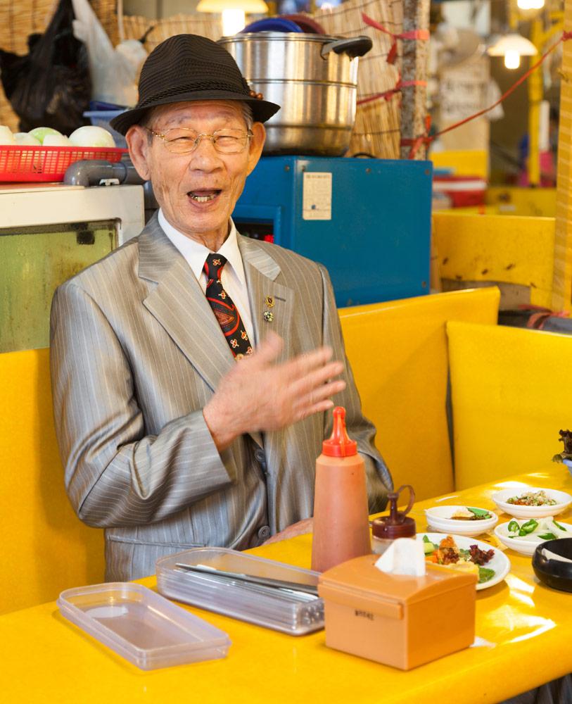 Lunchen in de markthallen van Busan, Rondreis Zuid-Korea, bezienswaardigheden, hotspots