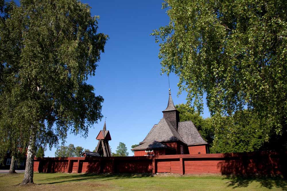 Zomaar een kerkje in Zuid-Zweden. Rondreis zuid Zweden, autorondreis