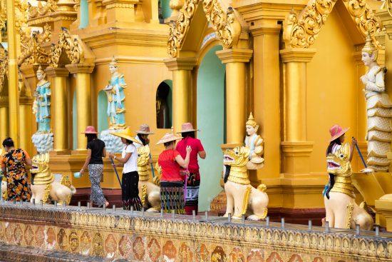 Shwedagon pagode. Yangon, Rangoon, Myanmar, Rondreis, Birma