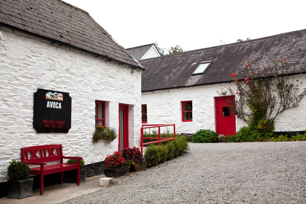 Souvenir-time: de winkel van Avoca. Rondreis Ierland - Vakantie met de auto door het zuiden van Ierland