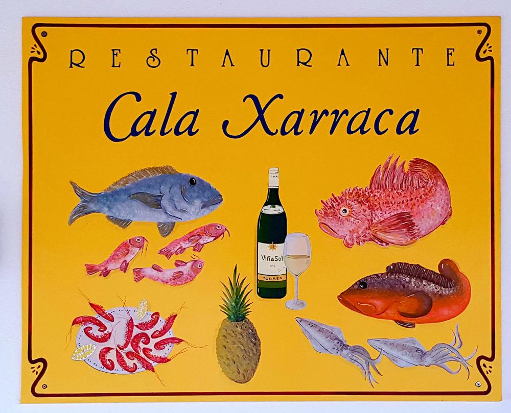 Restaurant Cala Xaracca op ibiza, Spanje, Balearen eiland