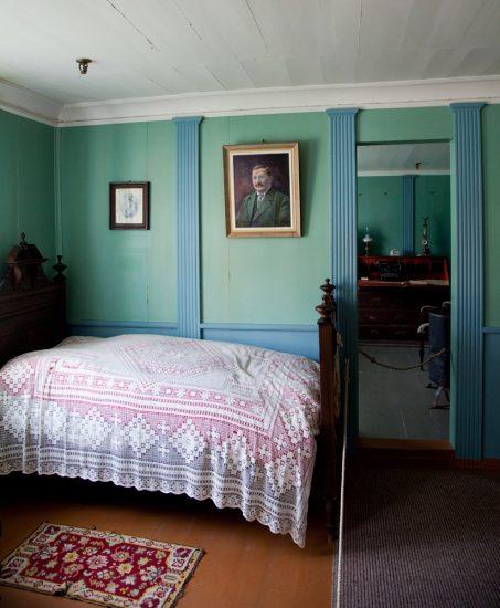 Kjerringoy in Noorwegen, interieur huis, cruise Noorwegen, handelspost
