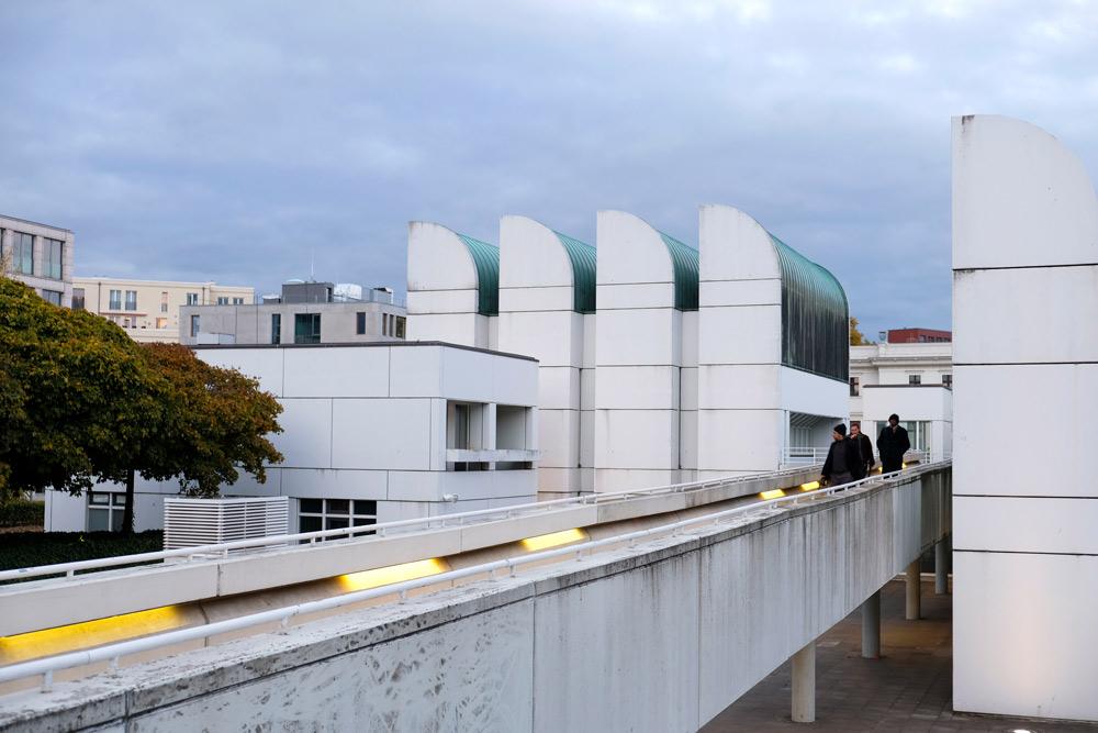 Nog even onder renovatie, het Bauhaus archief in Berlijn