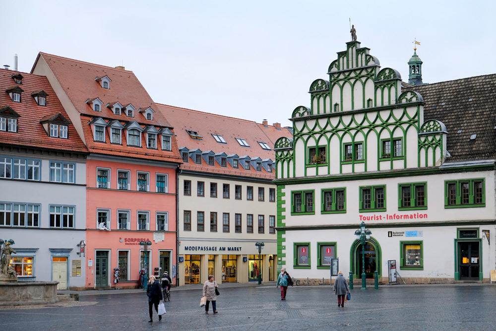 Weimar is knus en zo lekker typisch Duits. Rondreis Bauhaus. 100 jaar het Bauhaus in Duitsland