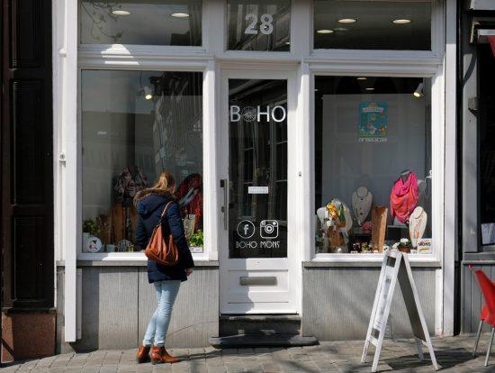 Winkelen in Mons, bijvoorbeeld bij BoHo. Stedentrip Mons, Bergen in Wallonie, Belgie. Met de hotpost en bezienswaardigheden en tips voor leuke winkels en goede restaurants