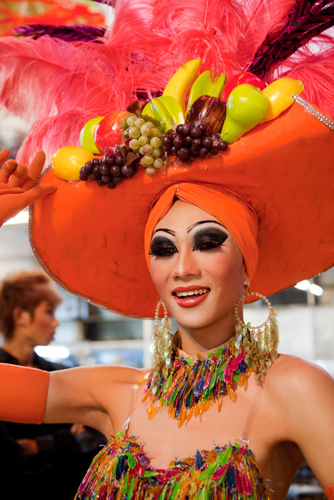 Travestiet in Chiang Mai, noord-Thailand