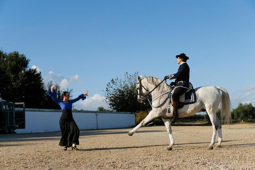 Dansvoorstelling bij hotel Hacienda de Orán . Budgettips Sevilla, Spanje, stedentrip, hotspots