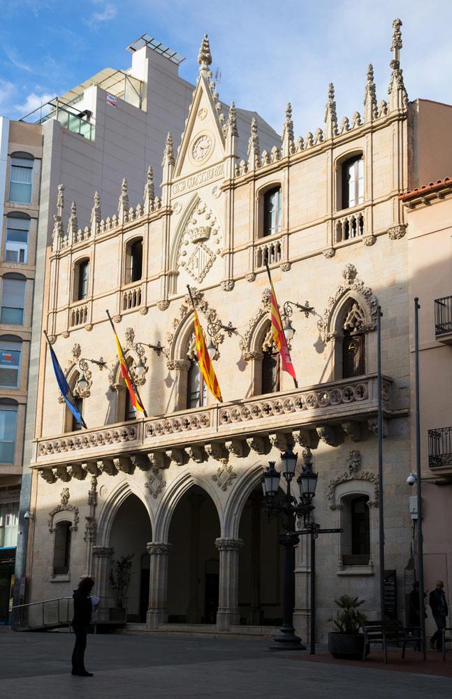 Terrassa was een rijke stad tijdens de Industriële Revolutie. Catalonië, Catalonie, Spanje, rondreis, industriele revolutie, kolonie
