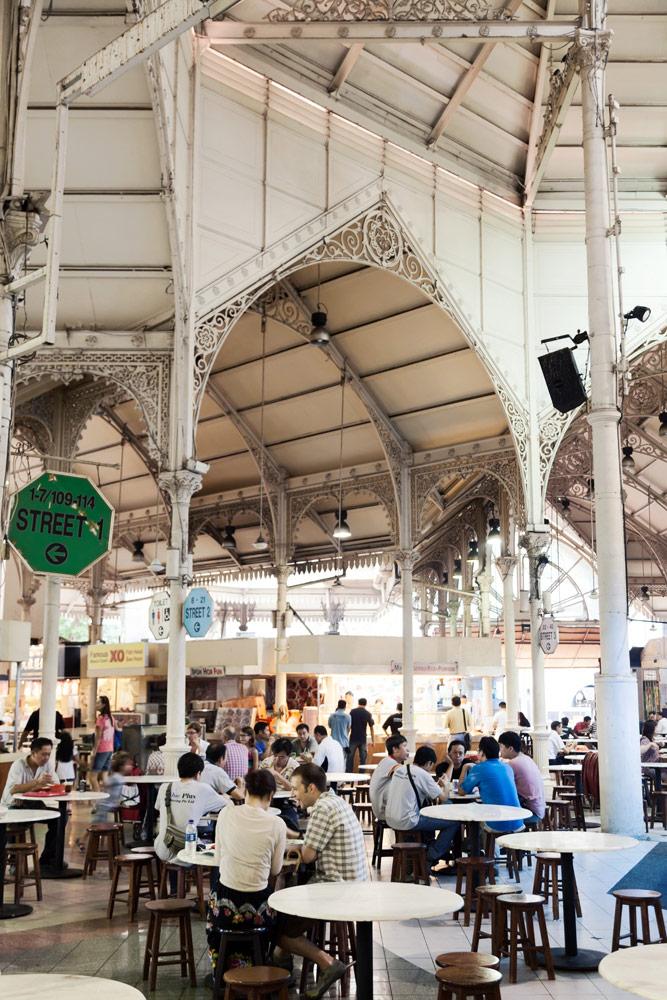 Lekker local: eten bij een hawker zoals Lau pa sat in Singapore. Stedentrip Singapore, bezienswaardigheden en hotspots