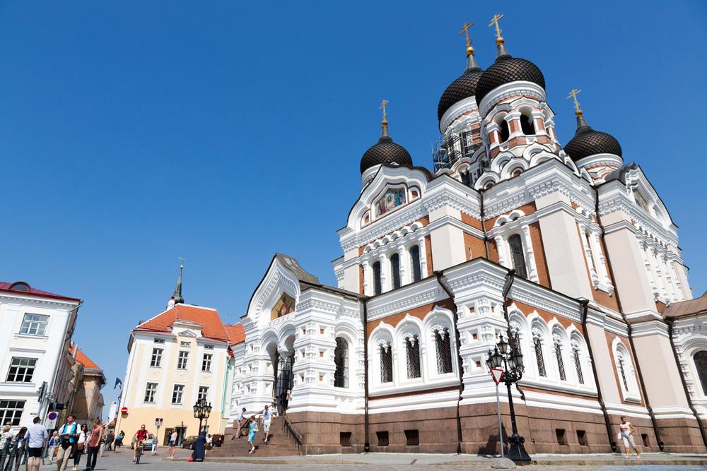 De Russisch-orthodoxe Alexander Nevsky kathedraal staat op de kathedraalheuvel.. Cruise Baltische Zee, Tallinn, Estland, stedentrip