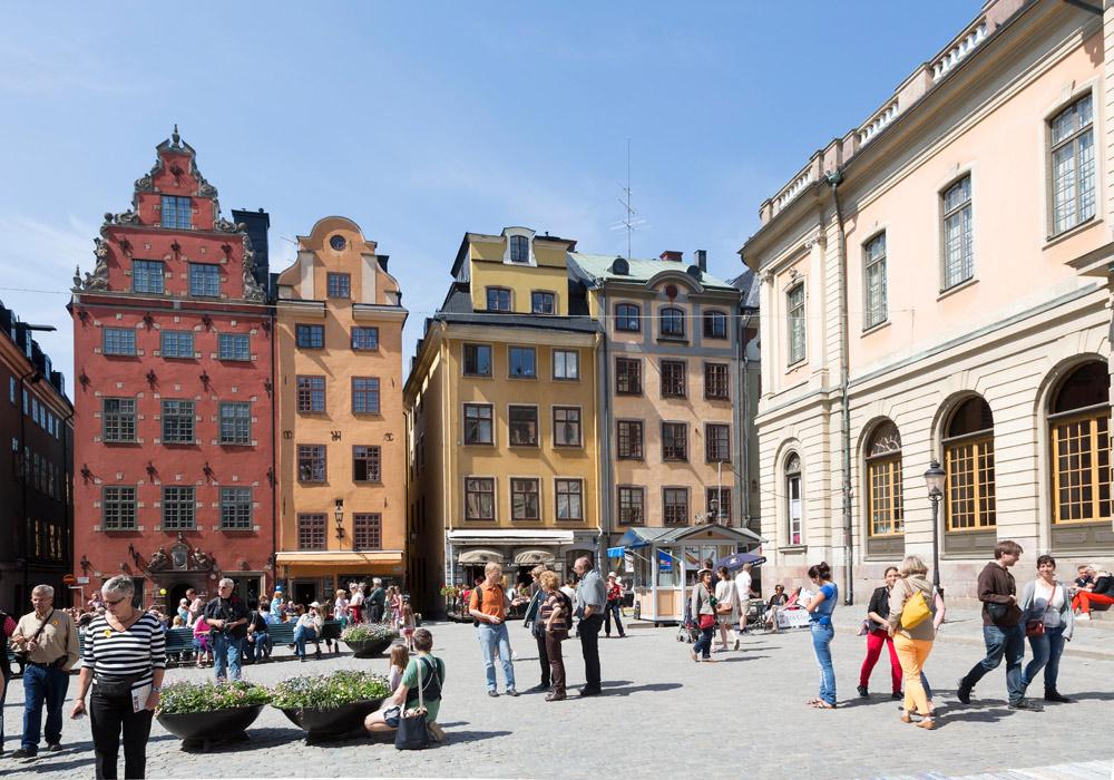 Gamla Stan, een van de oudste bewoonde eilanden van Stockholm. Cruise Baltische Zee, Helsinki, Finland